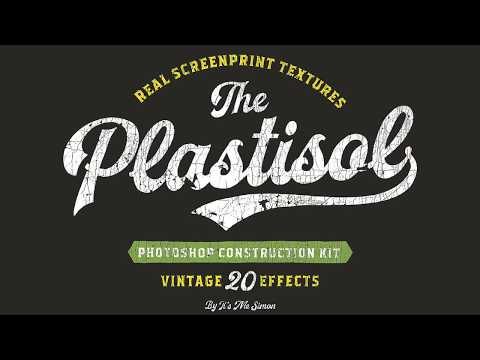 Plastisol cracked textures for photoshop