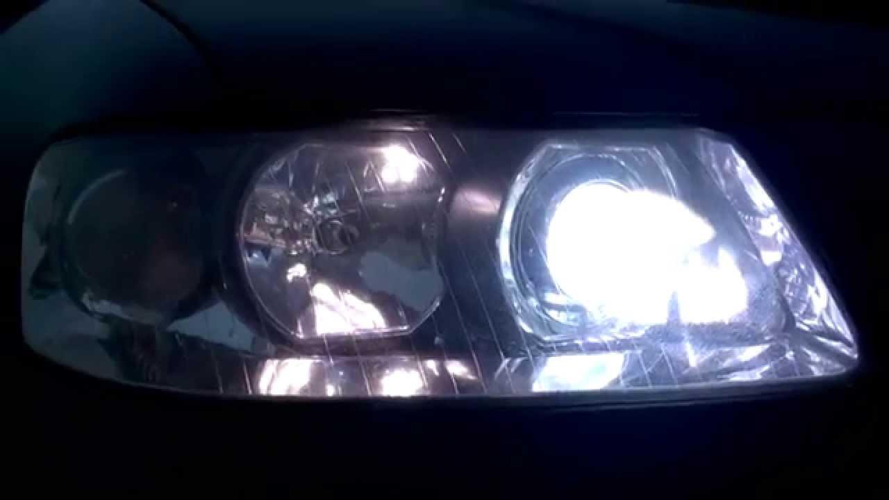 Hid Light Bulbs >> Audi A3 8L HID Xenon Lights 6000k - YouTube