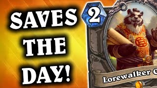 Lorewalker Cho SAVES THE DAY | Miracle Rogue | THE WITCHWOOD | HEARTHSTONE | DISGUISED TOAST