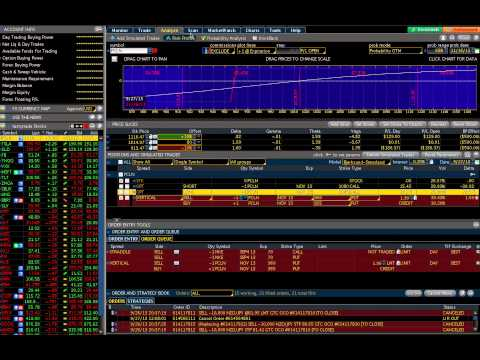 Option Strategy using TOS Spread Hacker 10/10/2013