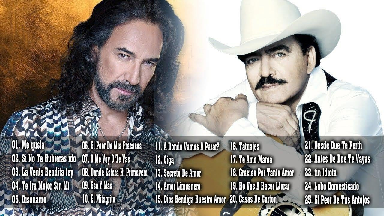 Joan Sebastian Y Marco Antonio Solís Mezcla Mix 30 Mejor Cancion Youtube