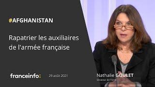 Afghanistan, Nathalie Goulet sur France Info tv