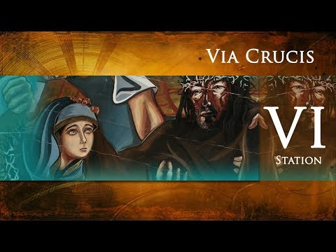 Stations of the Cross - 6th Station: Veronica wipes the face of Jesus