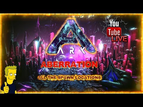 ALL THE STARTING SPAWN LOCATIONS ON THE ABERRATION MAP ARK: Survival Evolved