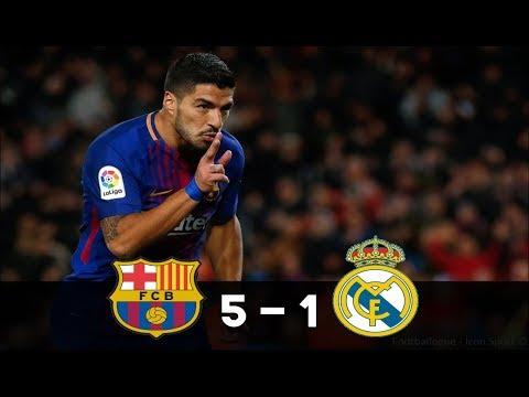 Barcelone vs Real Madrid (5-1) - Le BARCE ÉCRASE le Real !