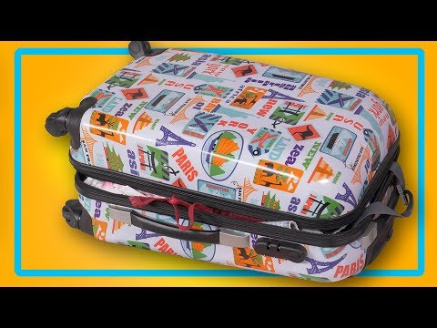 How to pack all your stuff into a single suitcase. Wonderful DIY tricks for clothes. Tips and Tricks