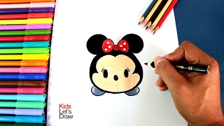 Cómo dibujar a Minnie Mouse Tsum tsum | How to draw Minnie Disney Tsum Tsum