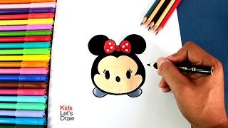 tsum tsum minnie mouse drawing lesson