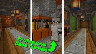 Mini Sistem ve Farmlarla Dolu Spawner'lı Yeraltı Base Kurmak !! Minecraft