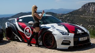 PORNSTAR Mareike Fox driving her Prior Design GT-R PD750 Widebody