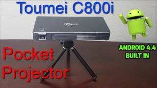 Best Mini Projector of 2017 |  Toumei C800i FHD | Fits in the Palm of your Hands | |  Android 4.4 OS