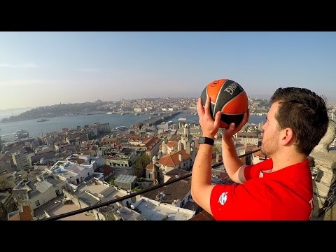 EPIC TRICK SHOTS from ANCIENT TOWERS in ISTANBUL!!
