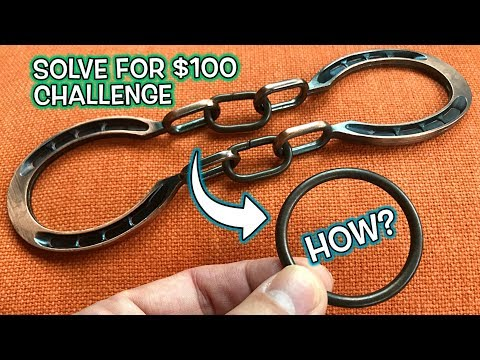 Can You Solve this Metal Ring Puzzle Trick for $100 Challenge!  Part 1
