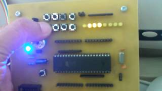 Homework: MCS-51, Count-Up switch, display as binary on LED display unit.