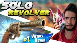 SOLO REVOLVER! VITTORIA REALE ⛏️ Fortnite Battle Royale - Pazzox