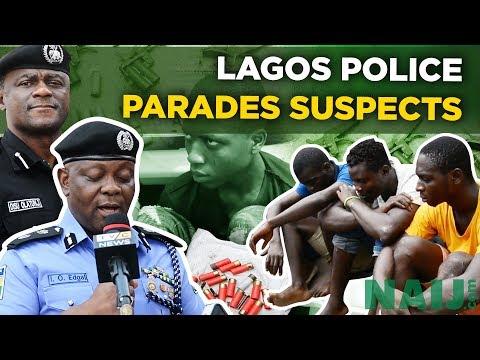 Lagos Police Commissioner Parades Suspected Criminals (Nigeria News) | Naij.com TV
