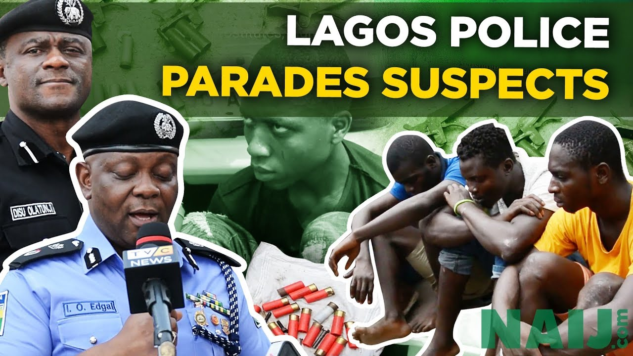 Lagos Police Commissioner Parades Suspected Criminals (Nigeria News) | Legit TV