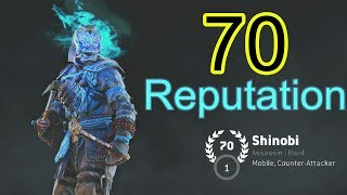 For Honor gameplay - Rep 70 - Shinobi - ninja honor