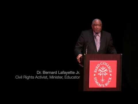 Dr  Bernard Lafayette Jr @ Bard College at Simon