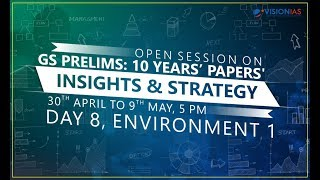 GS Prelims : 10 Years' Papers' Insights & Strategy | Part 8 - Environment