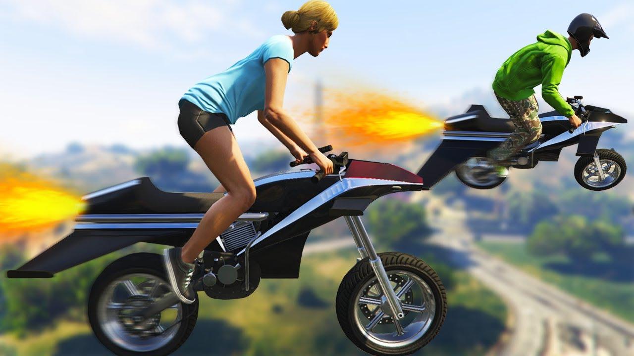 Flying Rocket Bike New Gta Dlc W Jelly Youtube