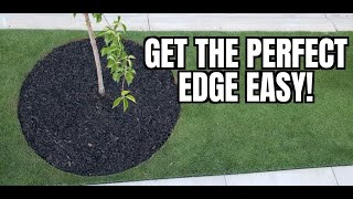 How to get CLEAN EDGES on new flower beds    Cutting in clean edges MADE EASY on beds in your lawn