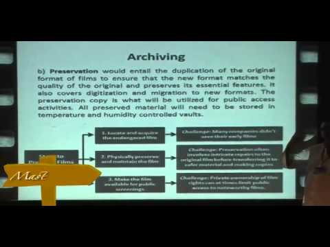 Master Class on film preservation, restoration & digital archiving