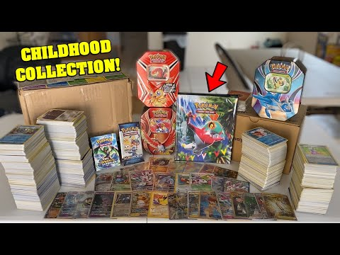 I bought someone's ENTIRE CHILDHOOD Pokemon Card Collection.. and this is what I FOUND!