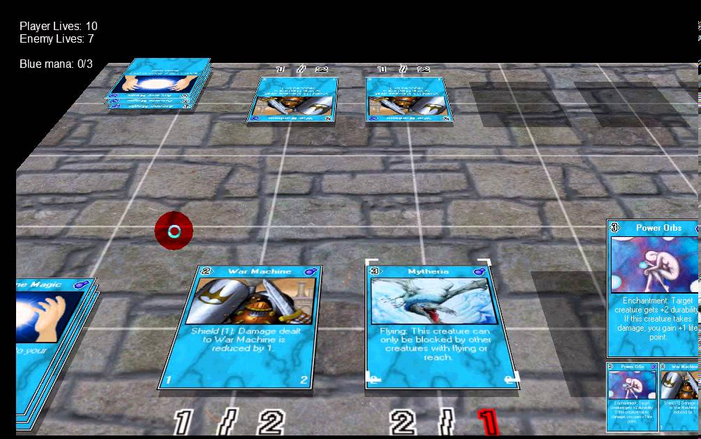 3d combat card game - game maker 7 pro