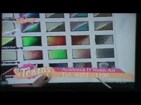 Segmento Programa Trazos 2nd parte: Pinturas FANTASY PRISME Y MOON con productos VITRAIL de PEBEO