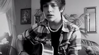 """Favorite Girl"" Justin Bieber cover - 15 year old Austin Mahone - HATLESS!"