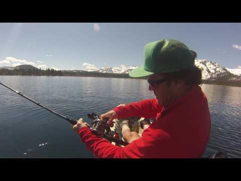 Kayak Fishing Lake Tahoe, Fish On!