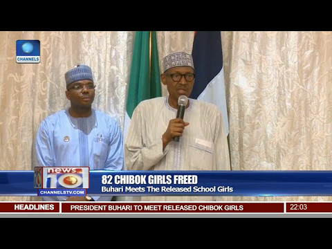 Watch Video Of President Buhari Addressing The Chibok Girls in Abuja