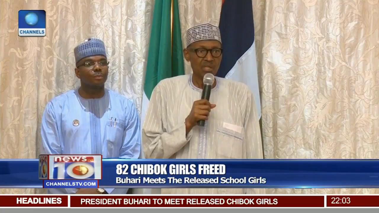 Download 82 Chibok Girls Freed: Buhari Meets The Released School Girls