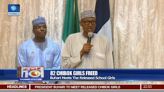 82 Chibok Girls Freed: Buhari Meets The Released School Girls