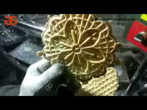Pizzelle Cookie Baking Machine Testing Video Pizzelle Making Machine
