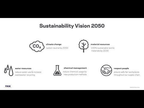 YKK Sustainability Vision 2050