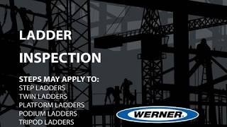 Werner Ladder - Ladder Inspection