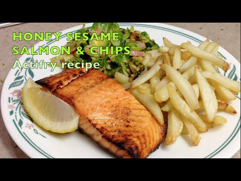 Honey roasted salmon and chips cheekyricho actifry for Air fryer fish and chips