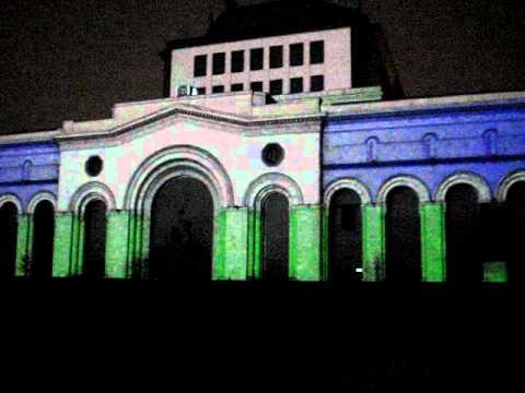 3D открытие нового года в Ереване