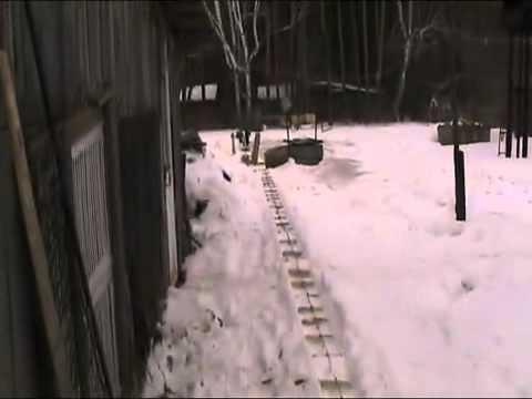 Транспортер в снегу транспортер картофельный