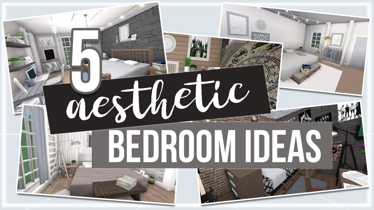 Roblox Bloxburg 5 Aesthetic Bedroom Ideas Youtube