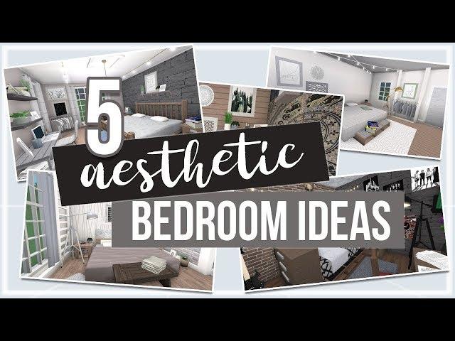 Roblox Bloxburg 5 Aesthetic Bedroom Ideas Youtube
