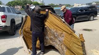 도킹텐트에 가장 완벽한 차박 평탄화 확장배드/로우스타
