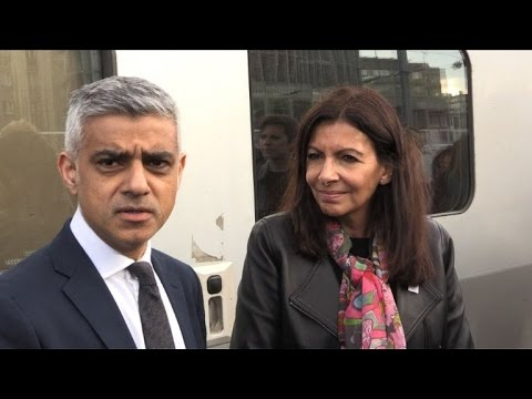 Anne Hidalgo accueille le maire de Londres à Paris