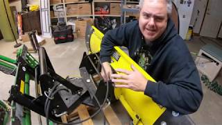 Loader Mounted Quick Hitch Snow Blade Install