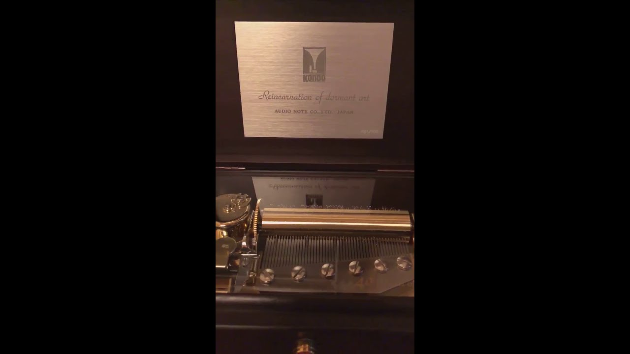 Kondo Audio Note Japan music box!