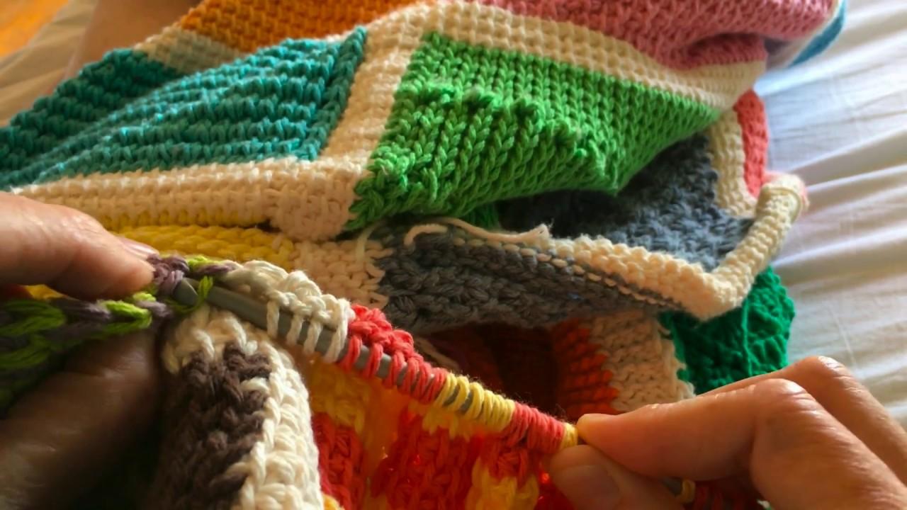 Tunisian Crochet Afghan Sampler Block 44 Bicolor Squares Youtube