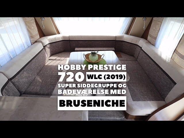 Hobby Prestige 720 WLC (2019) Mega siddegruppe og stort toiletrum med brusekabine