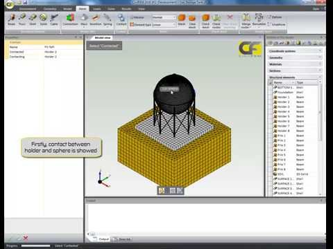 CivilFEM2016 Tutorial: Spectral Analysis (Spherical gas storage tank)